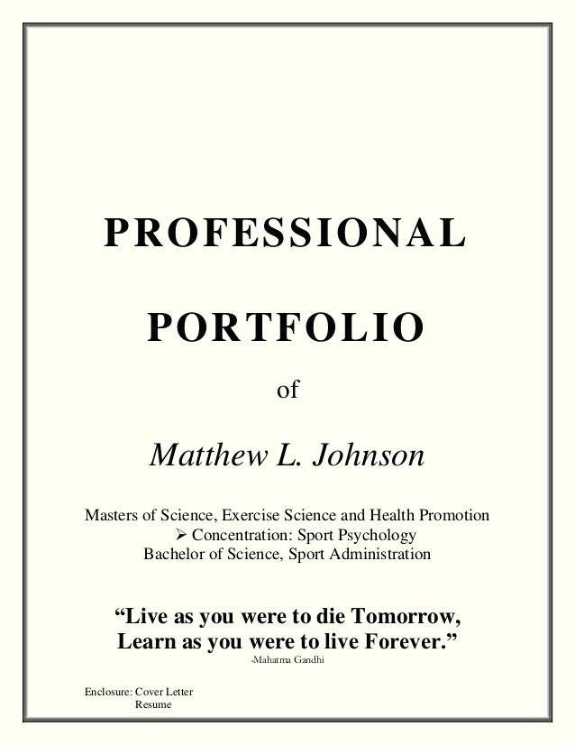 Professional Portfolio Cover Page Template Free Download
