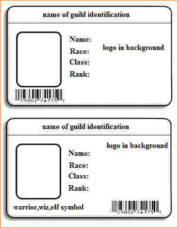 Id Card Template Word Free