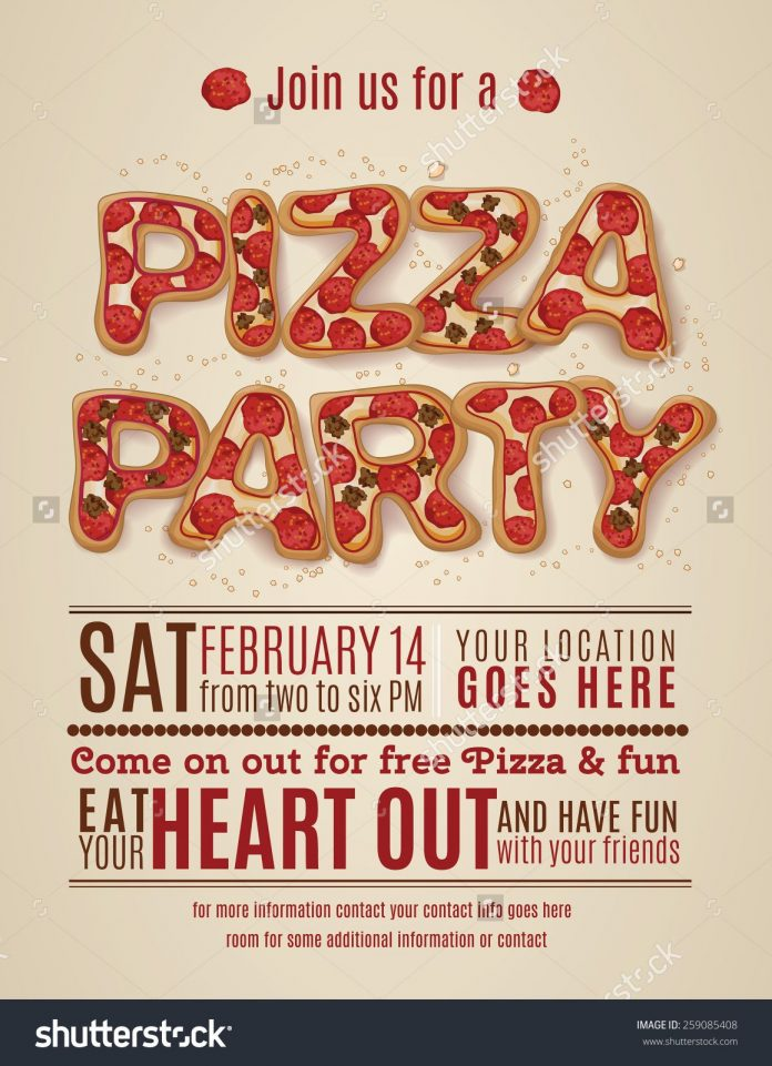 Pizza Party Invitation Template - FREE DOWNLOAD