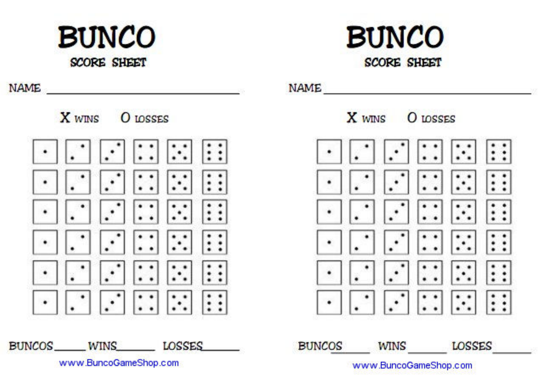 photograph about Free Printable Bunco Table Tally Sheets known as Bunco Tally Sheet Template Down load - Absolutely free Obtain