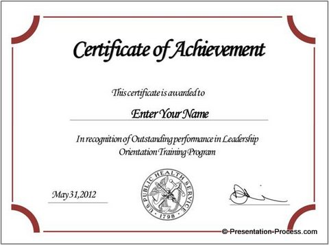 powerpoint certificate template free download