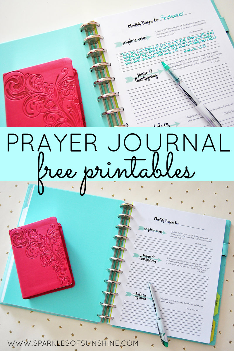 This is a graphic of Monster Free Printable Prayer Journal Pages