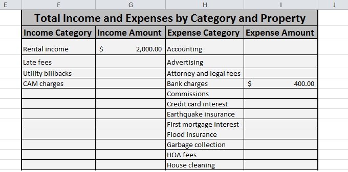Expense And Income Spreadsheet Free Download