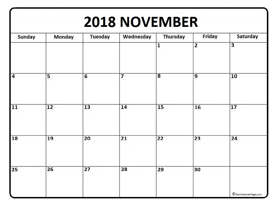 november 2018 calendar free download