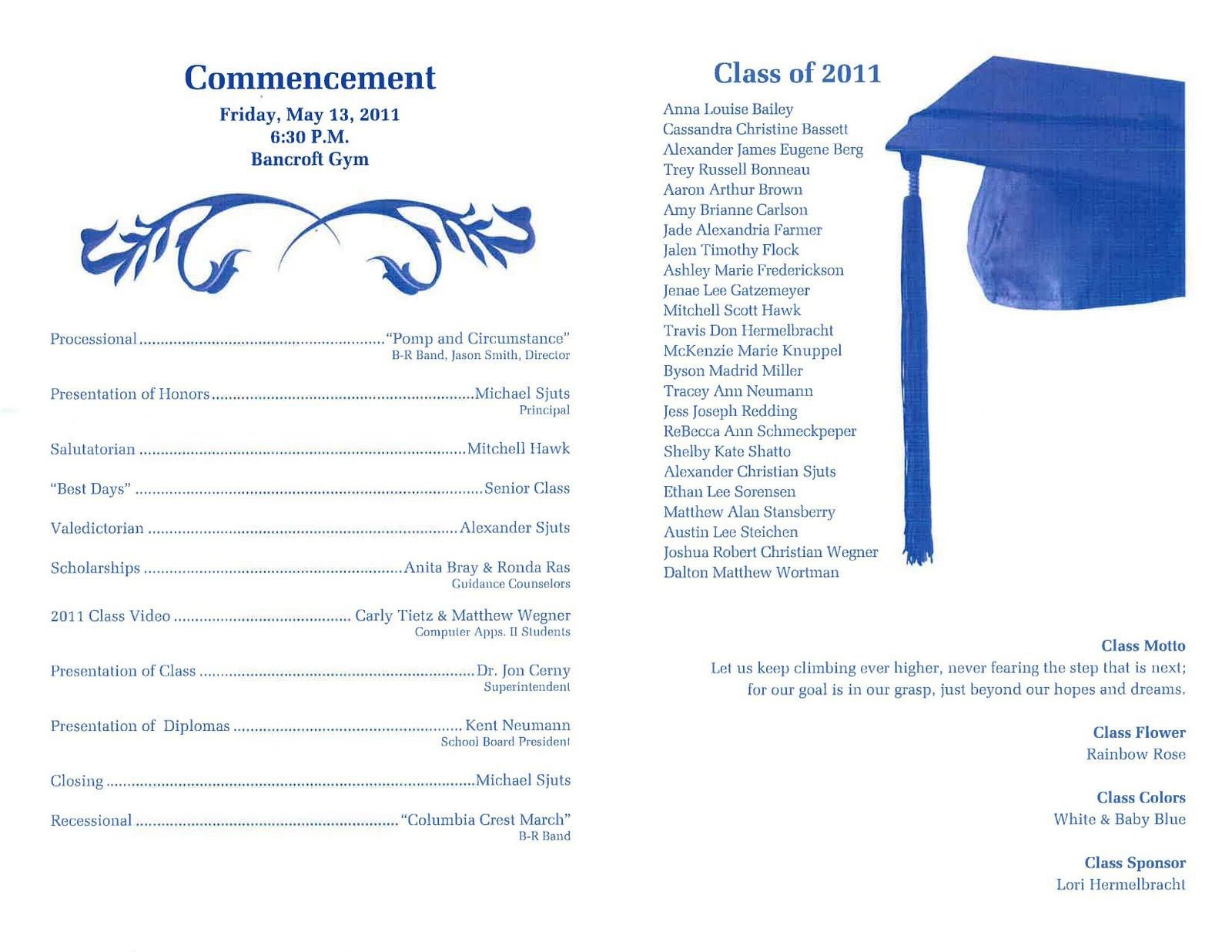 Preschool Graduation Program Template Free Download