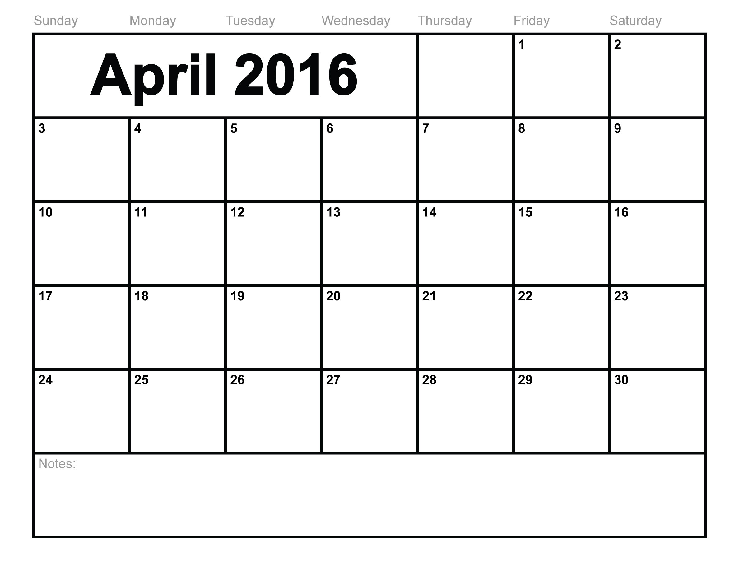 graphic about Apr Calendar Printable titled April 2016 Calendar Template - No cost Down load