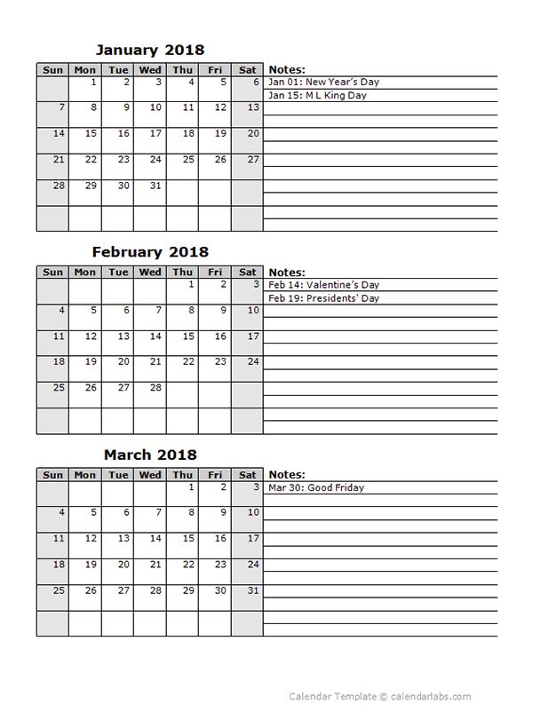 3 Month Calendar Free Download Freemium Templates