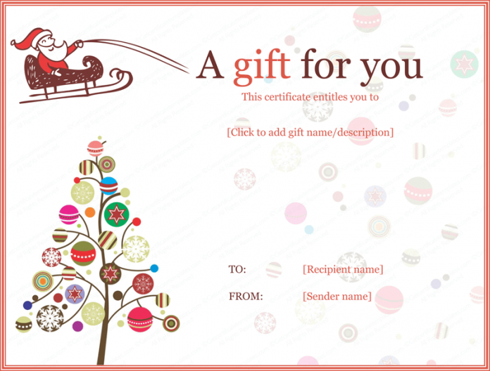 Christmas Certificates Templates - FREE DOWNLOAD