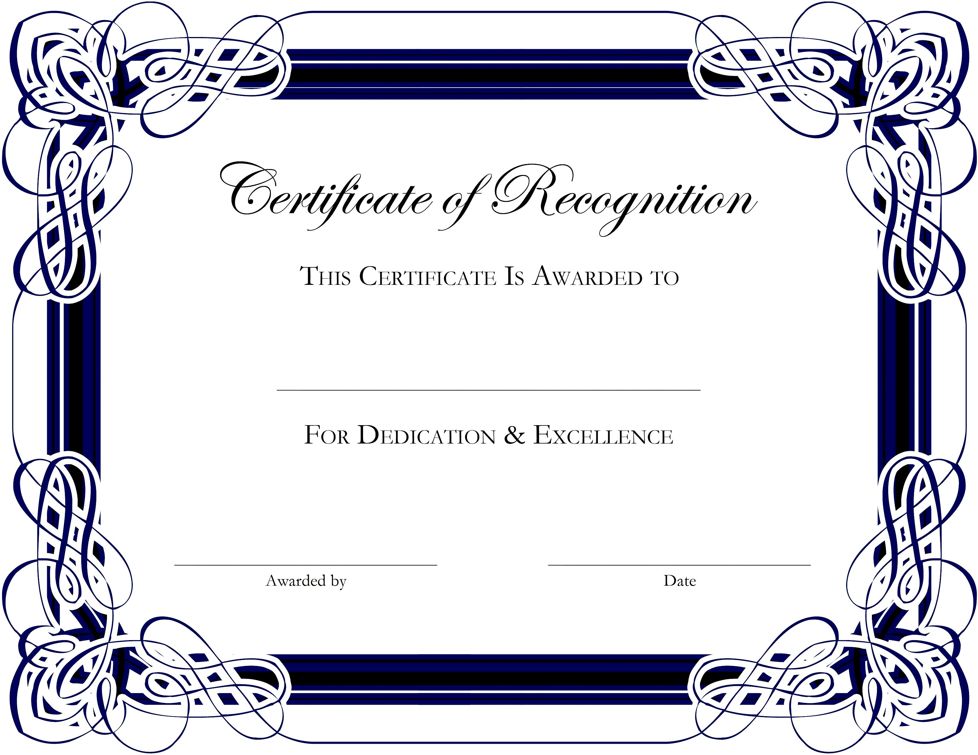 microsoft publisher certificate templates free download